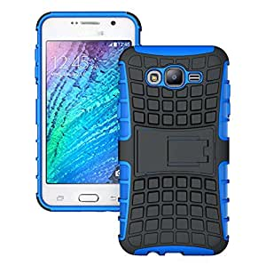 Kick Stand Back Cover for Samsung Galaxy Grand 2 - Blue