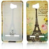 Huawei Ascend G600 G615 TPU Silikon Paris La Tour Eiffelturm Design Schutz Handy Hülle Case Tasche Etui Bumper thematys®