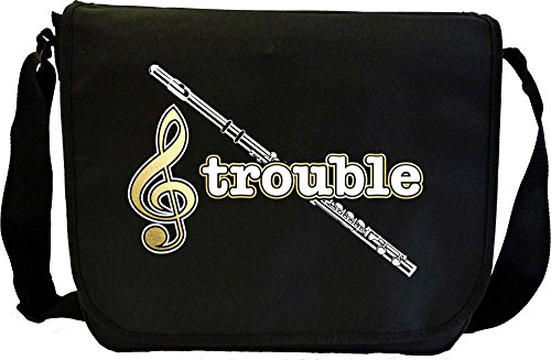 Flute Treble Trouble - Sheet Music Document Bag Musik Notentasche MusicaliTee
