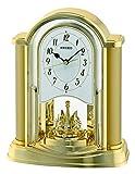 Seiko horloge analogique-cadran noir-bracelet plastique doré qXN228G motion