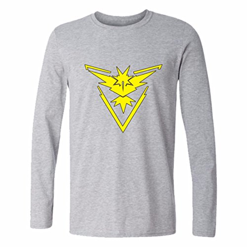 Mens 3D Shirts Cotton Yeezy Long Sleeve Crewneck Pokemon Go Sweatshirt GreenYellow