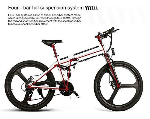 SHIJING 26 Zoll Reifen Samebike LO26 Smart-Folding elektrisches Fahrrad 350W Motor ebike 10Ah-Batterie Max 35km / h Elektro-Fahrrad