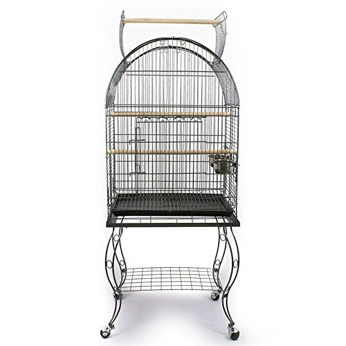 Pet's Solution Gabbia Voliera per pappagalli con Carrello 51x51x156h cm