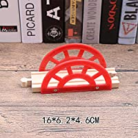 FairOnly Kids Wooden Cartoon Shape Train Track Puzzle Toy Home Decoration