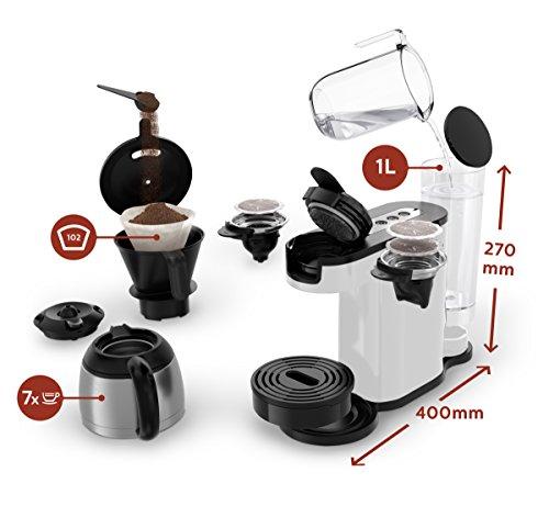 Senseo HD7892/00 Switch 2-in-1 Kaffeemaschine für Filter und Pads,Weiß - 3