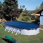 Gre CIPROV731 - Copertura invernale per piscina ovale 730x375 o a forma di otto 640x390 - 100 g/m