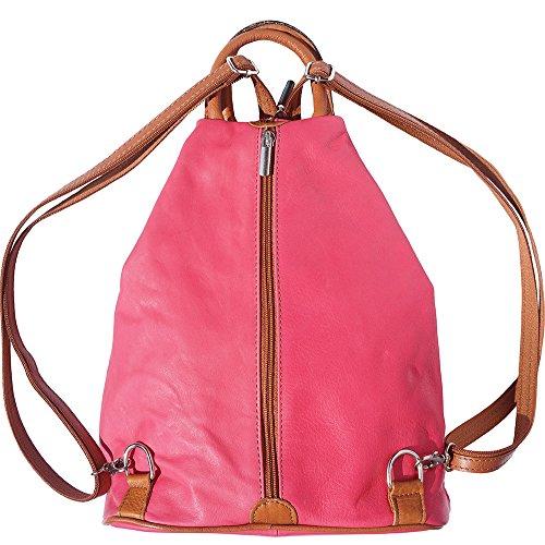 Rucksack Handtasche und Schultertasche 2061 Pink-bräune