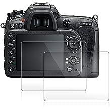 Pellicola Protettiva per Nikon D7100 D7200 D800 D600 D610 D850, AFUNTA 2 Pacchetto Anti-graffio Vetro Temperato Screen Protector Film (HD Alta Trasparente)