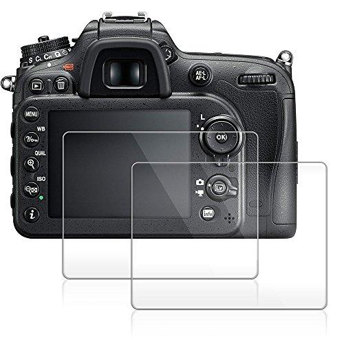 Kamera Display Schutz für Nikon D7100 D7200 D850 D800 D600 D610, AFUNTA Anti-Kratzer 9H LCD gehärtetes Glas (2 Packung)