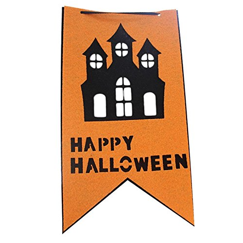 ty Flagge Dreieckige Flagge Banner Kleine Wimpel für Halloween Dekoration Zubehör 250cm Lang Doppelstöckiges Chalet ()