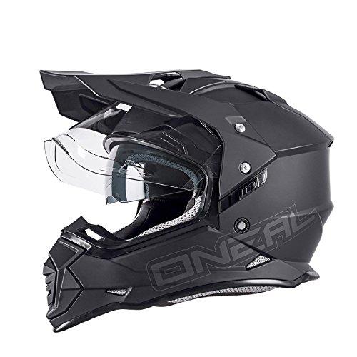 O'Neal Sierra II Helm Flat Schwarz Motorrad MX Motocross Enduro Offroad Quad, 0817-50, Größe XL (61/62 cm) -