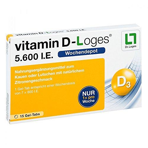 Vitamin D-Loges 5.600 I.E., 15 St. Gel-Tabs (D Vitamin Dr)