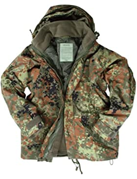 Mil-TEC chaqueta de forro polar con protección contra la humedad con diseño de camuflaje (GR.XL)