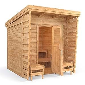 Isidor outdoorsauna saunakabine sauna 2x2m massivholz - Ofen fur garten ...