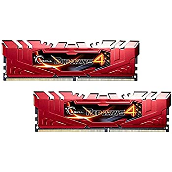 G.Skill Ripjaws 4 16Go DDR4 2800MHz module de mémoire - Modules de mémoire (16 Go, 2 x 8 Go, DDR4, 2800 MHz, Rouge)