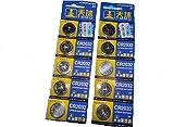 Knopfzellen-SET 10 Stücke CR 2032 Electronic Knopfzelle Batterien 220mAh (10x Knopfzelle)