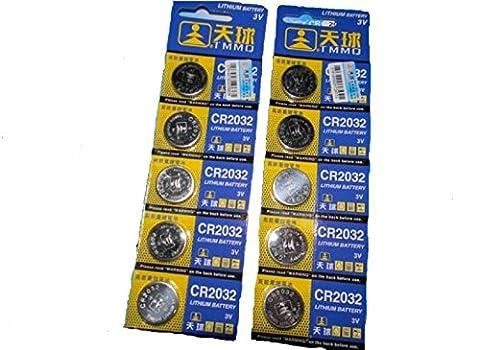 Knopfzellen-SET 10 Stücke CR 2032 Electronic Knopfzelle Batterien 220mAh (10x