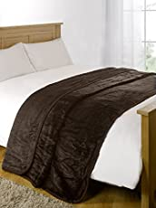 AKIN TOWEL Cotton Double Bed Blanket - Brown Mink (90x75)