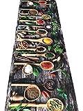 Tappeto passatoia fantasia made in Italy antiscivolo lavabile aderente - Grigioscuro - 50x100 cm