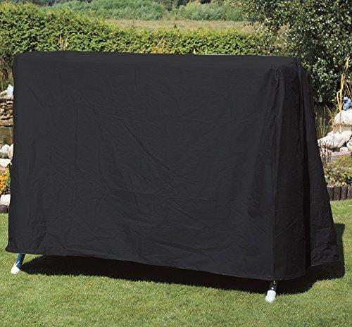 Profiline Schutzhülle mit 2 Reißverschlüssen, aus starkem 420 D Polyester in anthrazit für Eine Gartenschaukel, in praktischer Tragetasche, Kastenform 155 x 155 cm, 145 cm Höhe, 454762