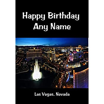 Las Vegas Nevada Personalised Birthday Card