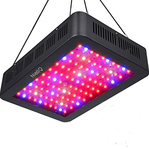Niello 1000W LED Pflanzenlampe Doppel-10W-Chips LED Grow Light Vollem Spektrum LED Wachstumslicht 100 LEDs Pflanzenlicht Grow Lamp mit UV & IR und mit Rope Hanger für Zimmerpflanzen,Gemüse und Blumen