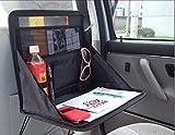 ewinever(TM) 1 PC del sostenedor del coche del ordenador portátil bolso de la bandeja del asiento posterior para montaje en la Tabla Taller De Alimentos el escritorio del cuaderno del organizador del bolso