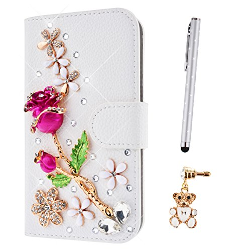 lazybear-3-in-1-samsung-galaxy-note-4-bedazzle-3d-diamond-elegant-pu-wallet-leather-case-pink-rose-a