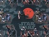Baumwollstoff Star Wars grau/schwarz, Meterware ab 0,5 m/Top-Qualität / 100% Baumwolle