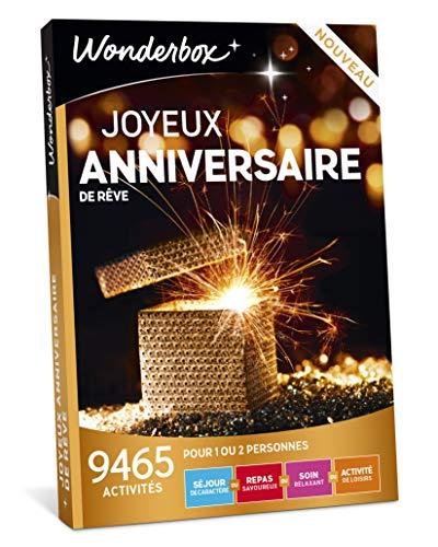 Wonderbox - Coffret cadeau celebration - JOYEUX ANNIVERSAIRE DE REVE - 9465 séjours...