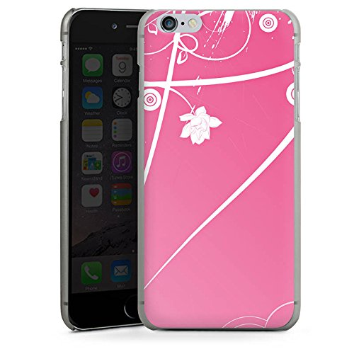 Apple iPhone X Silikon Hülle Case Schutzhülle Ornamente Blumen Muster Hard Case anthrazit-klar