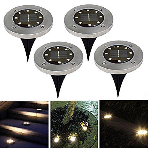 Fansport Gartenleuchten, Garten Licht Solar LED Landschaft Weg Licht Außen Hof Licht für Terrasse Rasen (Landschaft-garten-weg-licht)