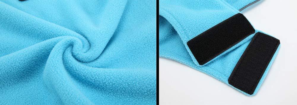 Morezi Pet Cloth Soft Polyester Fleece Dog Vest Elastic Chest Girth Coat Waistcoat Winter Warm Clothes Reversible Dog Coat for Small Medium Large Dogs 5