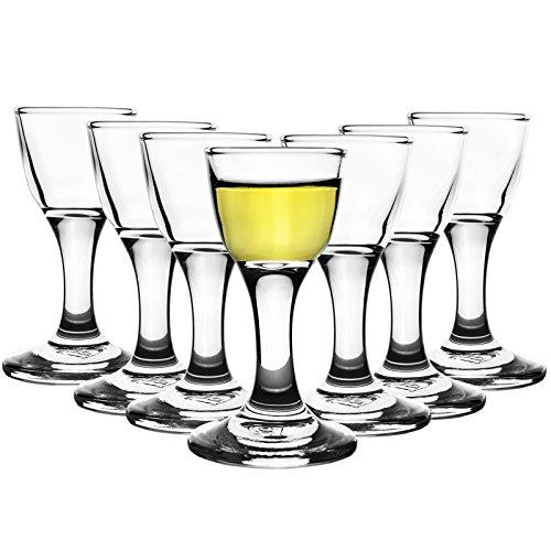 12er Set Mini Aperitif Gläser 17ml Schnapsgläser Shotgläser Pinnchen Wodka Whiskey Stamper Ouzo Tequila