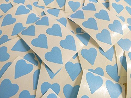 22x20mm Azul Claro Con Forma De Corazón Etiquetas, 90 auta-Adhesivo Código De Color Adhesivos, adhesivo Corazones para Manualidades y Decoración