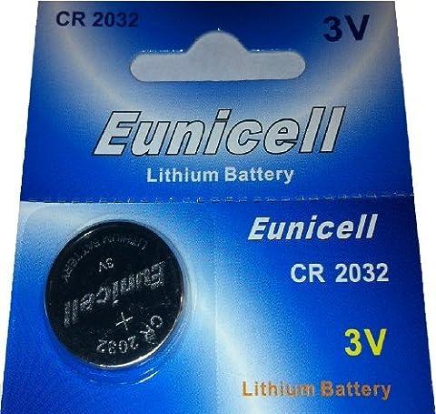 50 x CR2032 3V Lithium Knopfzelle 210 mAh ( 10 Blistercards a 5 Batterien ) Markenware Eunicell