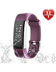 Letsfit Fitness Tracker HR, Activity Tracker Uhr mit Herzfrequenz-Monitor, IP67 Wasserdicht Smart Armband als Kalorienzähler Schrittzähler Uhr für Android und iOS