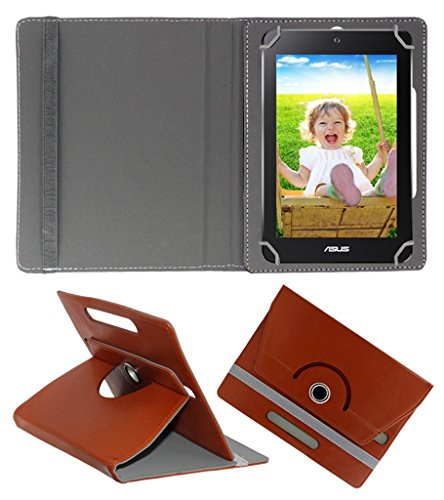 Acm Rotating 360° Leather Flip Case For Asus Memopad Hd 7 Tablet Cover Stand Brown  available at amazon for Rs.149