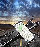 STIKGO Smartphone-Halterung für Fahrrad/Motorrad, Universal-Halterung aus Silikon für Fahrrad- Oder Motorradlenker, 360-Grad-Drehung, sicherer Halt, Stoßdämpfung, Flexibles Material