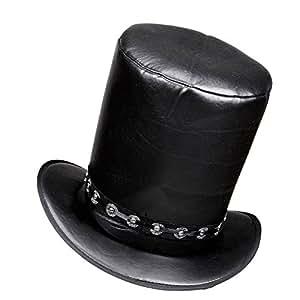WIDMANN 03609 Zylinder Hut in Lederoptik für Erwachsene, One Size