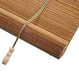 Tende a rullo Oscuranti, oscuranti in bambù, Tende avvolgibili per Il 50% di filtraggio della Luce, Tendine Parasole per finestre (Colore : Flat Curtain, Dimensioni : 80×100cm)