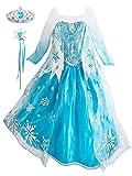 YONIER Ragazze Vestito Bambine Principessa Elsa Costume di Cosplay Party Halloween Costume Abito delle Ragazze di Natale Vestito Fantasia