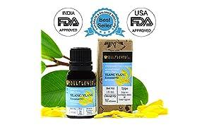 Soulflower Ylang Ylang Oil for Voluminous Hair and Skin Care, 15ml