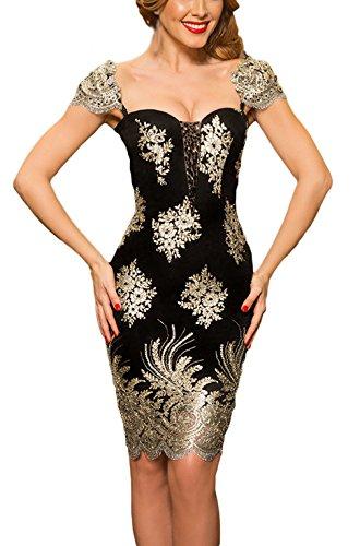 la-vogue-damen-minikleid-gold-stickerei-elegand-dahnbar-festlich-abendkleid-s-brust83cm88cm