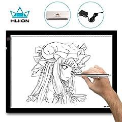 Idea Regalo - Huion® A3 Tavoletta luminosa 48x36cm con luce regolabile. Per disegnare contorni e tatuaggi; trasferire diapositive e disegni su tessuti