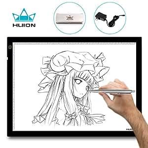 Huion® A3 Tavoletta luminosa 48x36cm con luce regolabile. Per disegnare contorni e tatuaggi; trasferire diapositive e disegni su tessuti