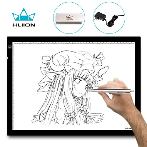 Leuchttisch A3 Huion Leuchtkasten 48 x 36 cm Dimmbarer Einstellbare Helligkeit Handwerk Tracing Animations Tattoo Quilting LED-Leuchttisch (Film Das Kostüme Handwerk)