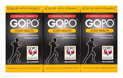 Multibuy 3x GOPO® Joint Health Rose-Hip With Vitamin C 120 Capsules