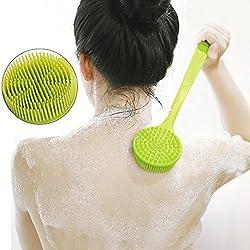 Long handled silicone body brush,Head Body Back Leg Bath Brush