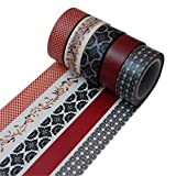 K-LIMIT 5er Set Washi Tape Dekoband Masking Tape 5 Rollen a 15mm x 10 m 9810